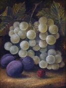 ENGLISH SCHOOL (19th century) Still Lifes of Fruit Oils on canvas 16 x 22 cm,