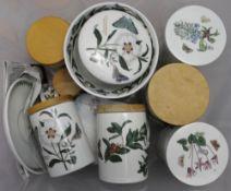 A quantity of Portmierion Botanical Garden ceramics