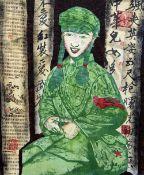 CHUN HAI (born 1971) Chinese Red Guard Mixed media on canvas 60 x 80 cm,