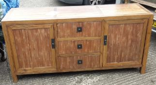A Chinese alter type table and a sideboard