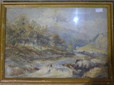 A river landscape,