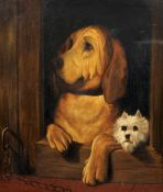 After SIR EDWIN HENRY LANDSEER (1802-1873) British Dignity and Impudence Oil on canvas 65 x 78 cm,