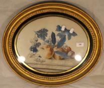 A Victorian gilt framed still life of fruit,