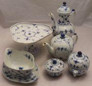A quantity of Royal Copenhagen blue and white porcelain