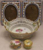 A Berlin porcelain basket,