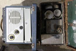 A vintage typewriter,