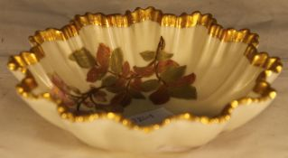 A small Royal Worcester blush ivory dish