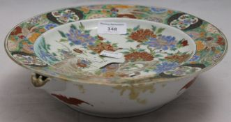 A Chinese porcelain food warming dish