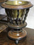 A Dutch wooden coal bucket