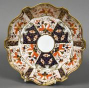 A Royal Crown Derby bowl, pattern 2825 Within a shaped rim,