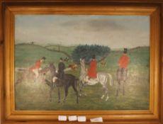 ENGLISH NAIVE SCHOOL (19th century) Hunting Scene,