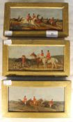 ENGLISH SCHOOL (19th century), three hunting scenes,