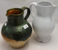 Two vintage pottery jugs