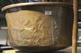 A large copper pot