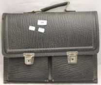 A leather attache case