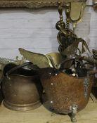 A quantity of metalwares