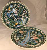 A pair of Iznik style plates