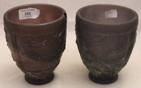 Two George Lefebvre scavo vases
