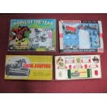 Three Show Jumping Plastic Playsets by Britains, Fernell and Palitoy, all playworn, boxed.