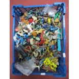 A Quantity of Mid XX Century and Later Plastic Figures by Crescent, Timpo, Nardi, Among Others,