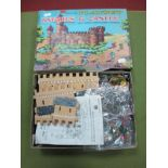 A Hong Kong Louis Marx Miniature Plastic Knights and Castle Playset, with castle, mounted and foot