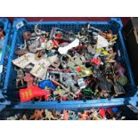A Quantity of Plastic Figures by Various Manufacturers, mainly of a knight theme, playworn.
