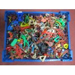 A Large Quantity of Mid XX Century and Later Plastic Figures of Mainly a Red Indian Theme by Herald,