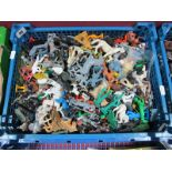 A Quantity of Mid XX Century and Later Plastic Figures by Timpo, Cherilea, Among Others, playworn.