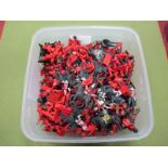 A Quantity of Plastic Guardsmen and Lifeguards, by various manufacturers, good to playworn.