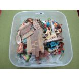 A Quantity of Plastic And Composition Nativity Figures By Various Makers Including Marx, (good to