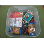 A Quantity of Plastic Figures, by various makers including two boxed Starlux Historical Figures,