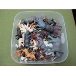 A Quantity of Britains Plastic Zoo Animals, good to playworn.