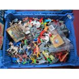 A Quantity of Mainly More Modern Plastic and Resin Figures, playworn.