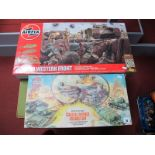 An Original Airfix 'OO' Scale Coastal Defence Assault Set, some signs of wear, unchecked, plus a