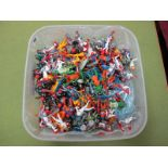 A Quantity of Circa 1980's Britains Plastic Space Figures, very good to playworn.