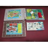 Three Britains Boxed Play Sets, including No. 4712 Zoo, No. 4711 Farm and Riding School,
