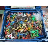 A Quantity of Mid XX Century and Later Plastic Figures by Crescent, Kellogg's, Lone Star, Among