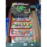 Six Boxed Sets of 1980's Britains Space Figures, 2 x 9171 Muteron and Master, No. 9180- 6 Mutants,