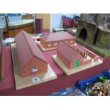 Four Buildings Built From Bricklayer to Original Plans, including stable, pig yard, tractor shed,