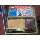 An Original Fort Cheyenne Playset, missing figures. Tinplate and plastic fort, boxed, box poor.