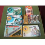 Five Airfix Boxed 1/32nd Figure Sets, including Australian Infantry, some painting noted, plus an