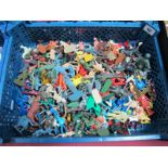 A Quantity of Plastic Figures by Various Makers, playworn.