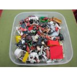 A Quantity of Britain's and Other Manufacturers Plastic Animals And Equipment, (good to playworn).