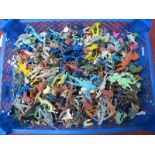 A Quantity of Plastic Figures by Various Manufacturers, playworn.