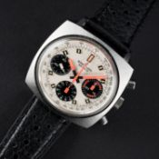 A RARE GENTLEMAN'S STAINLESS STEEL BREITLING TOP TIME CHRONOGRAPH WRIST WATCH CIRCA 1969, REF. 814