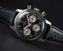A RARE GENTLEMAN'S STAINLESS STEEL BREITLING TOP TIME CHRONOGRAPH WRIST WATCH CIRCA 1960s, REF.
