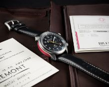 AN EXTREMELY RARE GENTLEMAN'S STAINLESS STEEL BREMONT MB1 AUTOMATIC WRIST WATCH DATED 2014, WITH