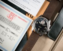 """A VERY RARE GENTLEMAN'S STAINLESS STEEL BREMONT P-51 """"MUSTANG"""" AUTOMATIC CHRONOGRAPH WRIST WATCH"""