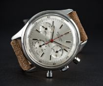 A VERY RARE GENTLEMAN'S STAINLESS STEEL BREITLING TOP TIME CHRONOGRAPH WRIST WATCH CIRCA 1964,