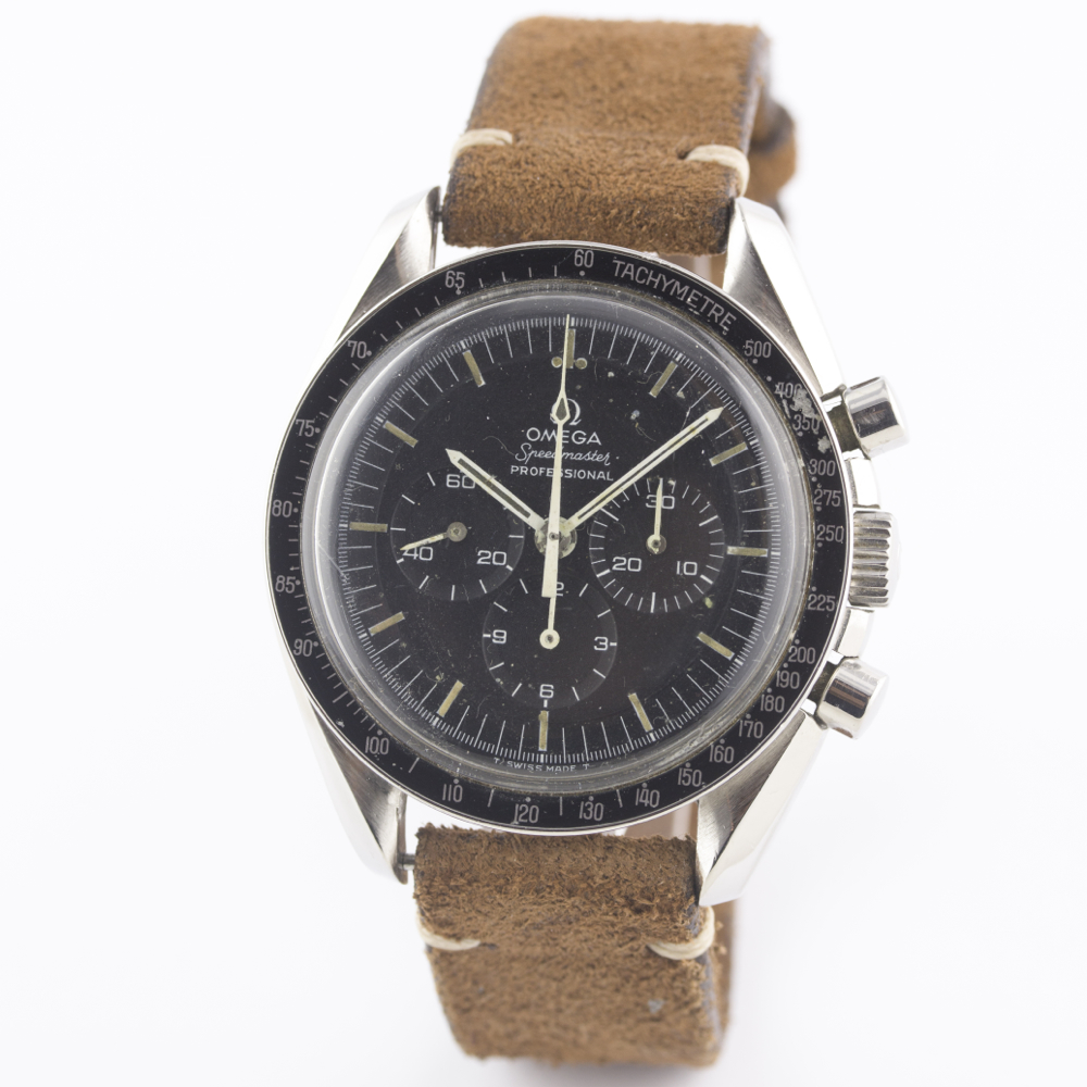 Lot 183 - A GENTLEMAN'S STAINLESS STEEL OMEGA SPEEDMASTER PROFESSIONAL CHRONOGRAPH WRIST WATCH CIRCA 1970,